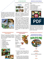 Triptico Sobre La Fauna Peruana