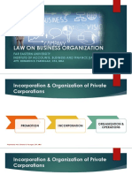Title II - Incorporation & Organization of Private Corporations (Sec 10-22)