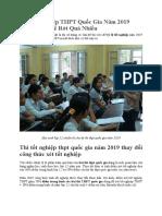 Thi Tốt Nghiệp THPT Quốc Gia Năm 2019 Không Thể Để Rớt Quá Nhiều