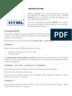 Sintaxis de HTML1