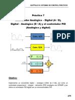 Practica 7. Convertidores DA, AD y Controlador PID