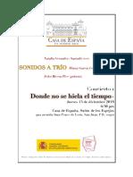 Programa  final de concierto 1. Sonidos a trío