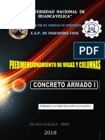 PREDIMENSIONAMIENTO DE VIGAS Y COLUMNAS