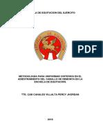 Escuela de Equitacion Del Ejército Monografia