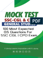 100 Most Expected G.S Questions SSC CPO_CGL_2018