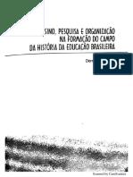 Ensino, Pesquisa e organização da formação do campo de história da educação