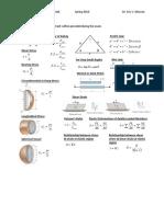 Formula Sheet for Exam 1