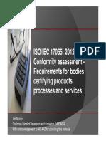 ISO_IEC 17065 Presentation by Jim Munro (1)