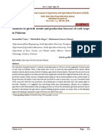 Analyses of growth trends and production forecast of cash crops in Pakistan