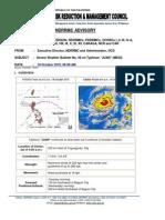 NDRRMC Severe Weather Bulletin on Typhoon Juan 18 Oct 2010 5AM