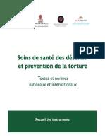Soins de santé des détenus et prévention de La torture