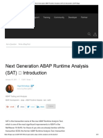 Next Generation ABAP Runtime Analysis (SAT) _ Introduction _ SAP Blogs