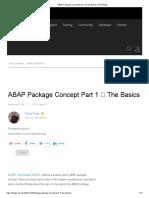 ABAP Package Concept Part 1 _ the Basics _ SAP Blogs