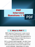 PHP Interview Questions-ppt