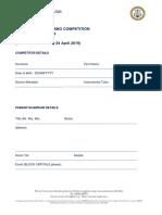 PIANO Application Form 1
