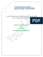 Math Review By Yousuf Ali