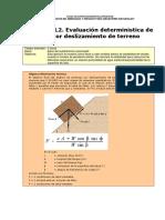 03L2 Hazard Landslide Deterministic Assessment