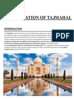 Project Report on Foundation of Tajmahal