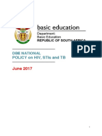Department of Basic Education National Policy on HIV STI and TB 2017