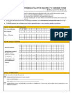 Withdrawal Upon Death of a Member Form