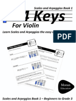 24 Keys - Scales and Arpeggios for Violin Book 1 - Preview