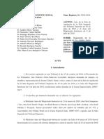 Resolució del TC que confirma la suspensió dels seus càrrecs dels presos polítics