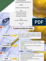 Planificacion y Programacion de Obra