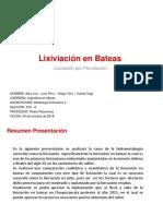 Presentación Lixiviación Bateas