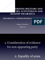 PPT -Nicaragua Case (Consideration of Evidence)