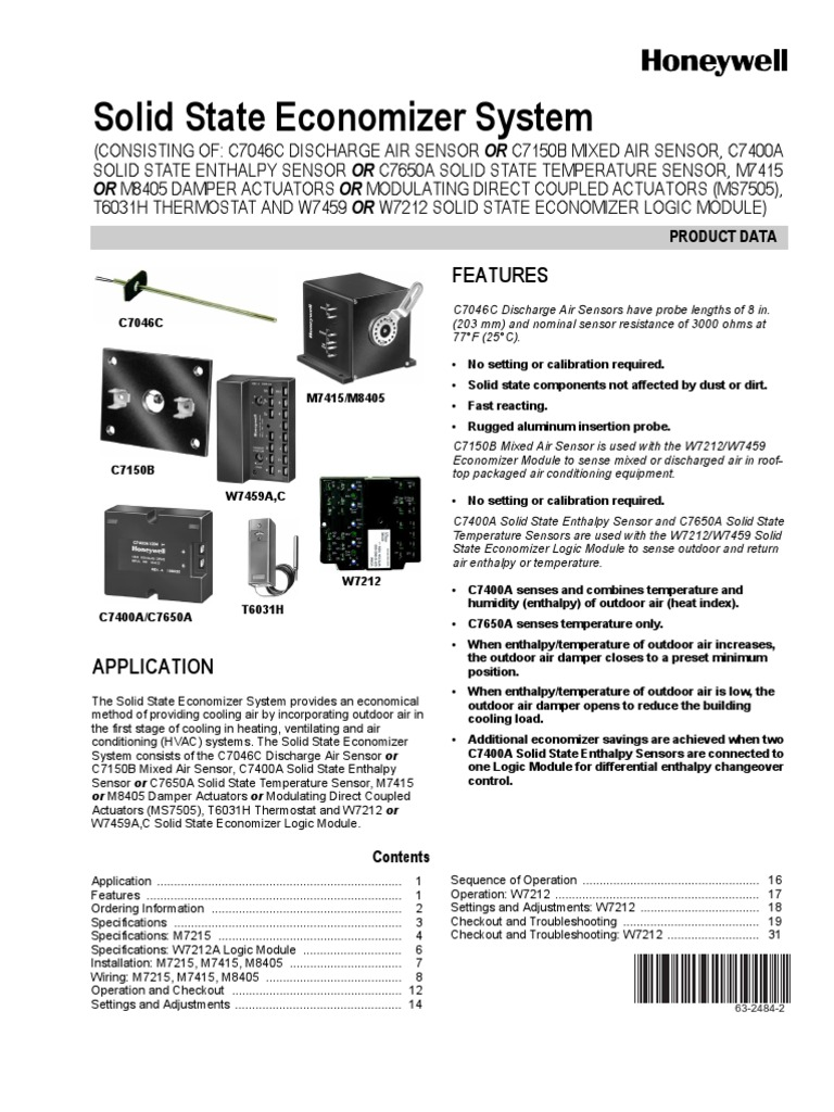 Wiring Diagram For Honeywell W7212 Trusted Economizer Electronic Manual Thermostat Electrical Zone Valve