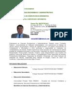 Curriculum Vitae Quito Rojas