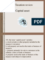 Income Taxation Capital Asset