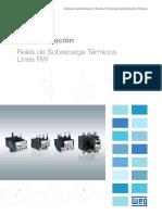 WEG Rw Reles de Sobrecarga Termicos 50070232 Catalogo Espanol