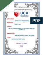 Proyecto de Vida Jose Luis Corcuera Mosqueira
