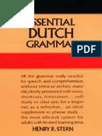Henry R. Stern-Essential Dutch Grammar (1984)
