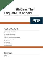 GSK - Etiquette of Bribery