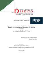 Joana Maria Costa Leal Diogo -FGADM No Contexto Do Estado Social