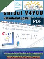 """Ghidul V4YOU """"Voluntariat pentru Tine(RI)"""""""