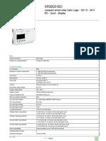 Smart Relay - Zelio Logic SR2_SR3_SR2B201BD
