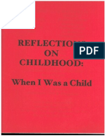 Reflections on Childhood