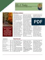 October 2010 News Letter