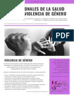Boletín del Centro Salud y Mujer sobre violencia de género
