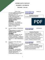KY Supreme Court Pension Minutes
