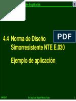 ejemplo de aplicación norma e030