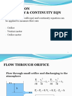 Application of Continuity and Bernoulli Equations