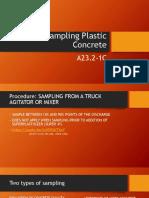 Sampling Plastic Concrete-training