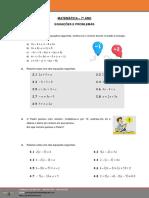 7º Ano Equações e Problemas