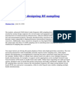 A Checklist for Designing RF Sampling Receivers