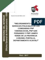 """""""Mejoramiento de Los Servicios Policiales de Las Comisarias Pnp"""
