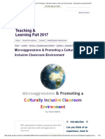 microaggressions   promoting a culturally inclusive classroom environment - teaching   learning fall 2017